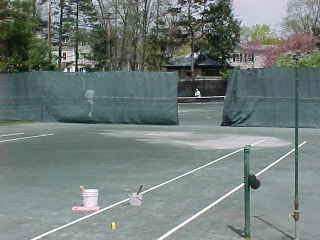 court 1 unfinished lines
